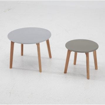Table De Jardin Aluminium Bois Resine Au Meilleur Prix Leroy Merlin
