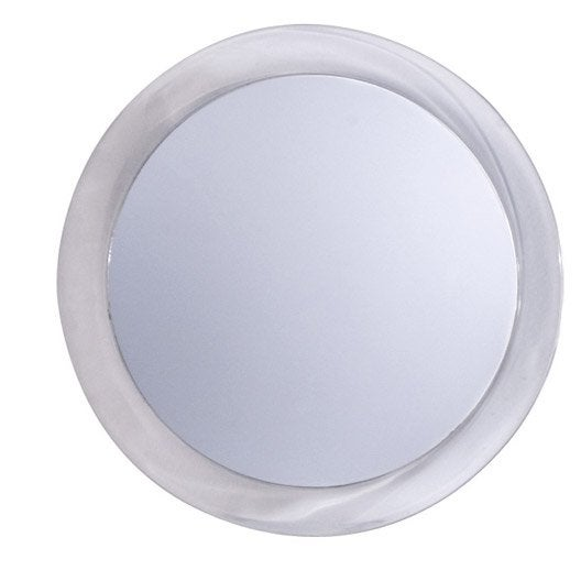 Good cool miroir grossissant x rond coller h x l x with for Miroir rond lumineux