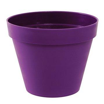 Pot polypropylène à réserve d'eau EDA, ø.100 cm x H.79.5 cm, prune