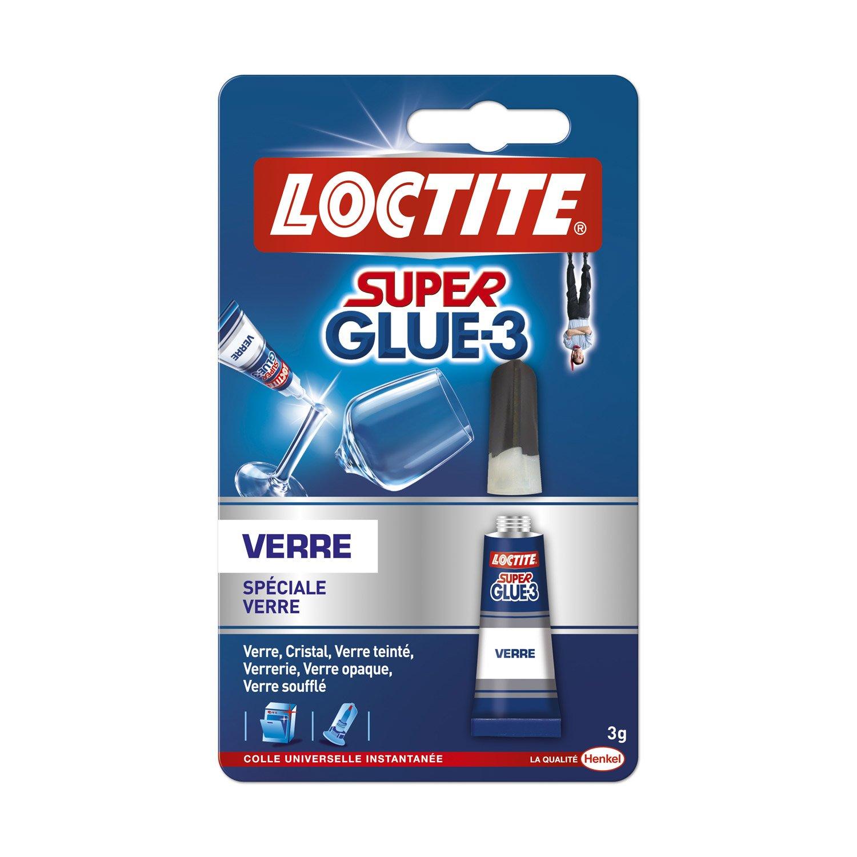 colle glue liquide super glue 3 verre loctite 3 g leroy merlin. Black Bedroom Furniture Sets. Home Design Ideas
