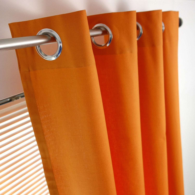 Rideau tamisant sunny orange x cm inspire leroy merlin - Doubles rideaux leroy merlin ...