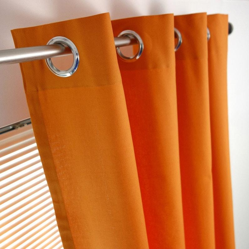 Rideau Tamisant Sunny Orange L 140 X H 260 Cm Inspire Leroy Merlin