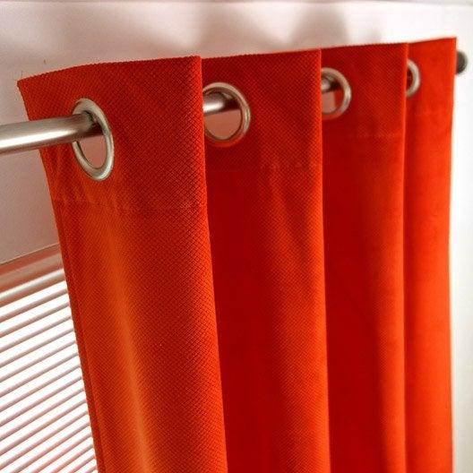 rideau tamisant barcelone orange x cm leroy merlin. Black Bedroom Furniture Sets. Home Design Ideas