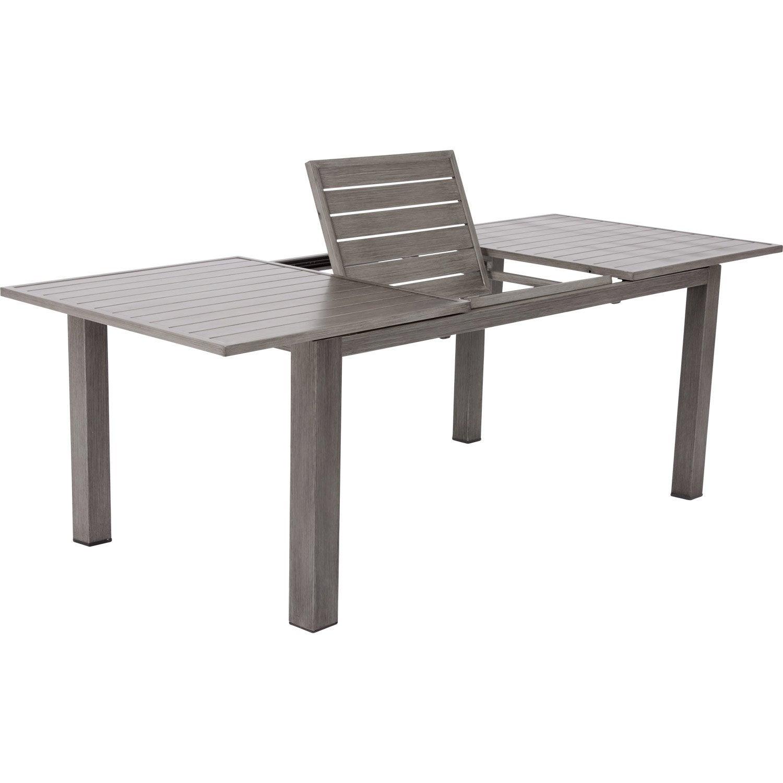 Table de jardin naterial antibes rectangulaire gris 6 8 personnes leroy merlin - Leroy merlin antibes ...