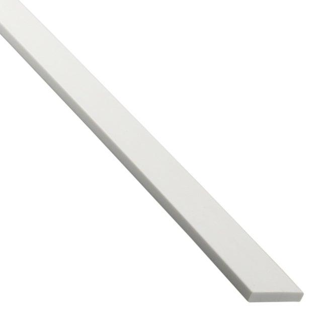 Plat Pvc Mat Blanc L26 M X L3 Cm X H03 Cm