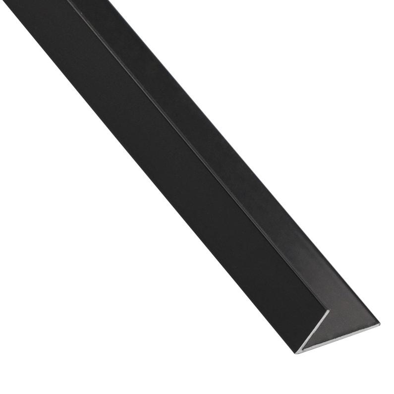 Cornière Inégale Aluminium Anodisé Noir L1 M X L235 Cm X H195 Cm