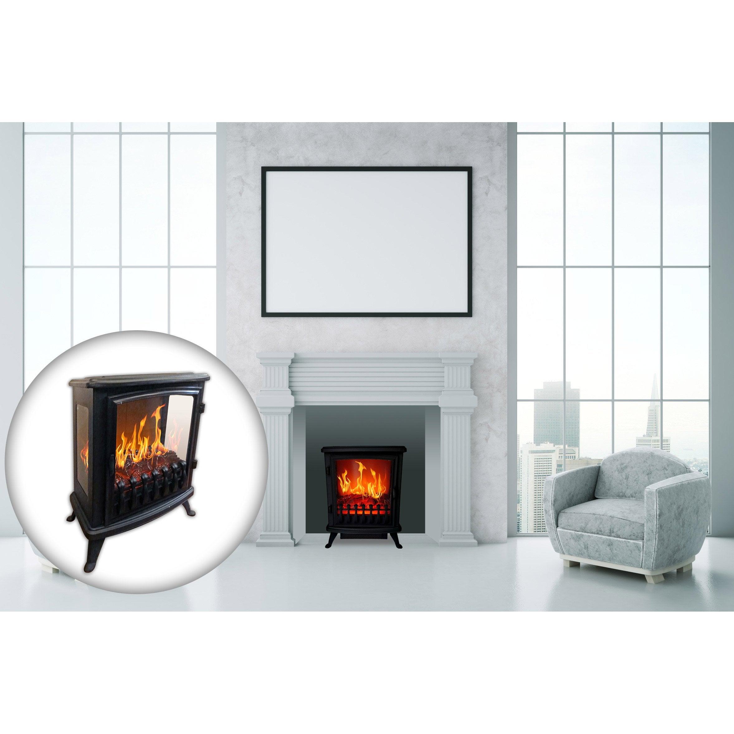 Cheminée électrique CHEMINu0027ARTE Fire Glass 139, 2000 W