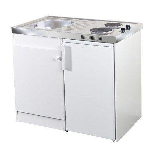 Kitchenette Electrique Blanc Spring H.92.5 X L.100 X P.60 Cm