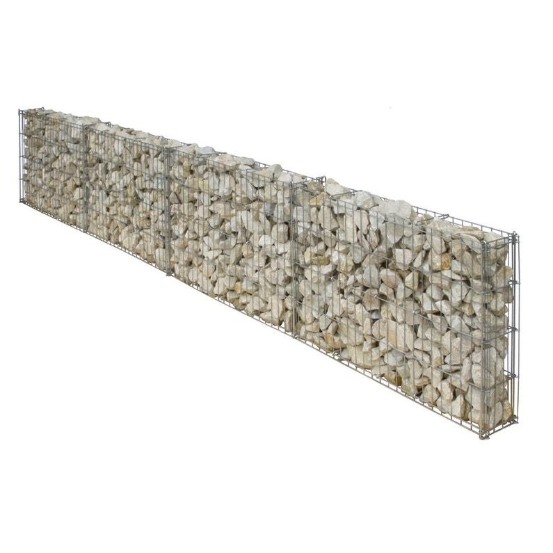 Gabion Aluminium Zinc Gris 232 X 10 X H 40 Cm