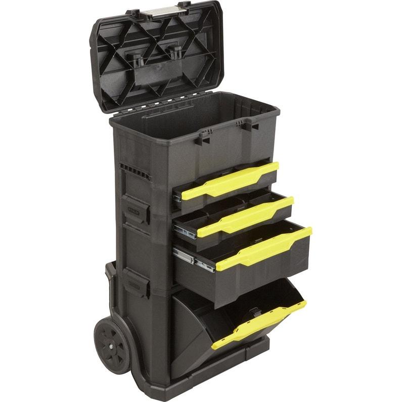 369c00c2897ead ... Servante de chantier + boîte à outils STANLEY plastique, 4 tiroirs 50  cm ...