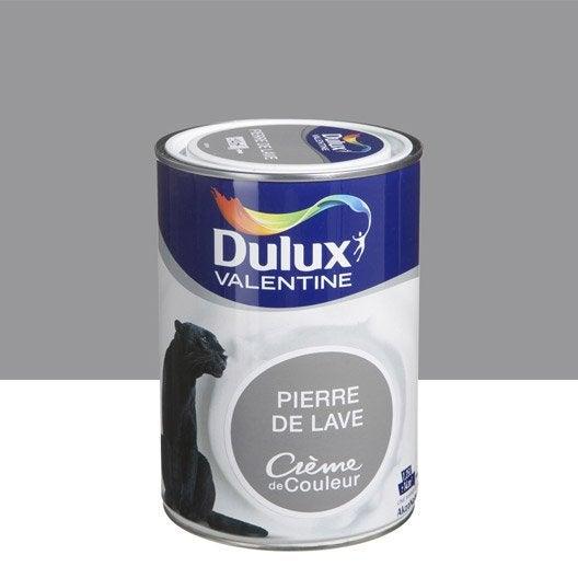 peinture brun pierre de lave dulux valentine cr me de couleur l leroy merlin. Black Bedroom Furniture Sets. Home Design Ideas