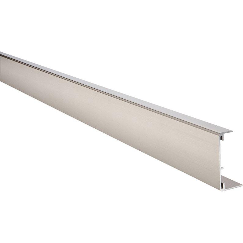 Profil De Chant Reno Plan Aluminium Brossé Leroy Merlin