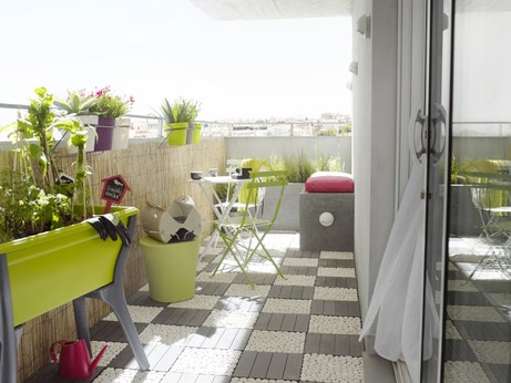 quand le balcon devient terrasse leroy merlin. Black Bedroom Furniture Sets. Home Design Ideas