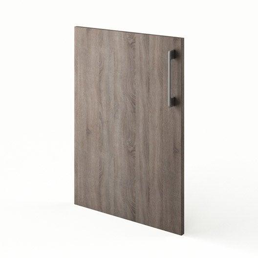 Porte de cuisine d cor ch ne havane f50 topaze x h for Porte 70 cm largeur