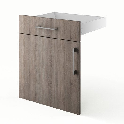 Porte et tiroir de cuisine d cor ch ne havane topaze for Porte cuisine 60 x 30