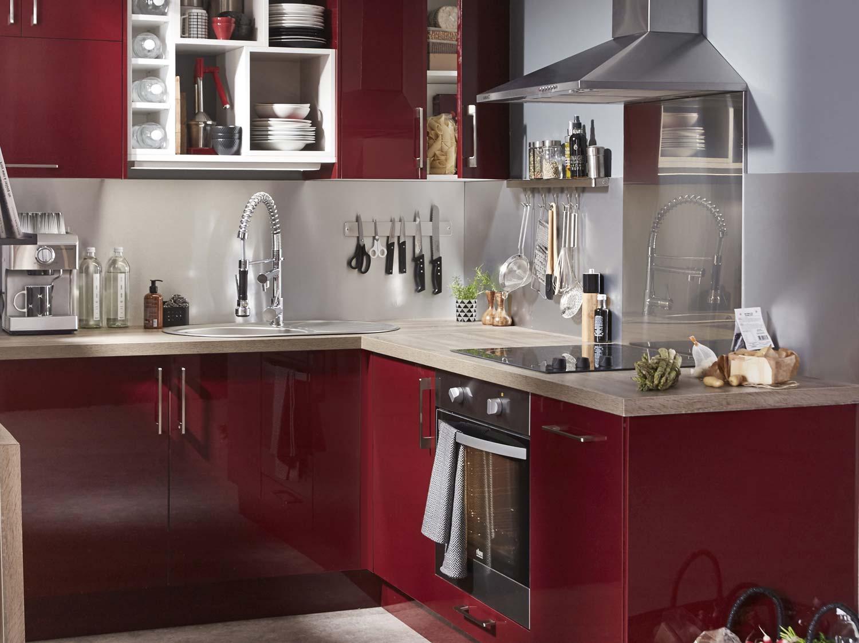 Meuble de cuisine leroy merlin - Creer une cuisine dans un petit espace ...