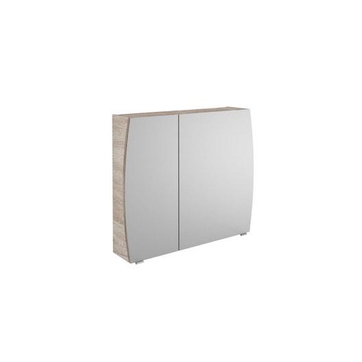 armoire de toilette l 80 cm imitation ch ne image. Black Bedroom Furniture Sets. Home Design Ideas