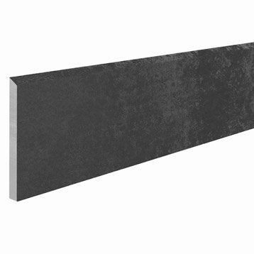 Lot de 4 plinthes Emotion noir, l.7.5 x L.30 cm