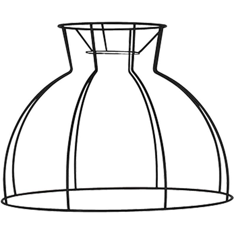 Suspension, e27 style industriel DOME A COL métal noir 1 x 60W W COREP