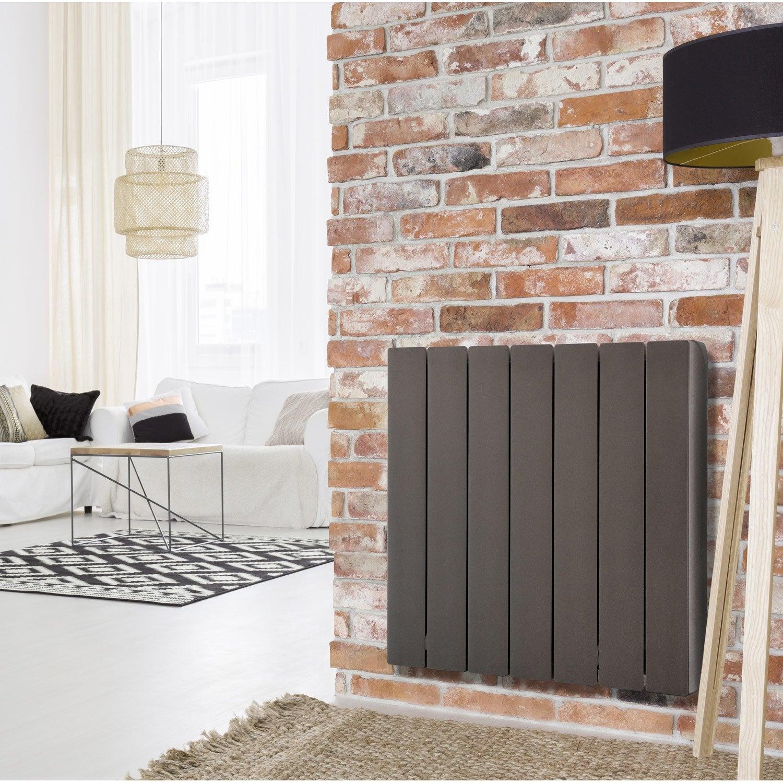 radiateur lectrique inertie fluide equation alidea noir. Black Bedroom Furniture Sets. Home Design Ideas