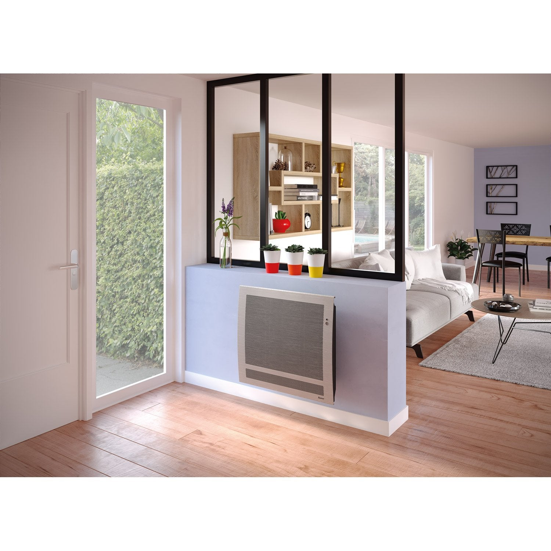 radiateur lectrique rayonnement sauter sundoro gris acier 1500 w leroy merlin. Black Bedroom Furniture Sets. Home Design Ideas