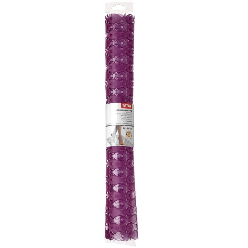 Tapis antidérapant violet pour douche, Fish | Leroy Merlin