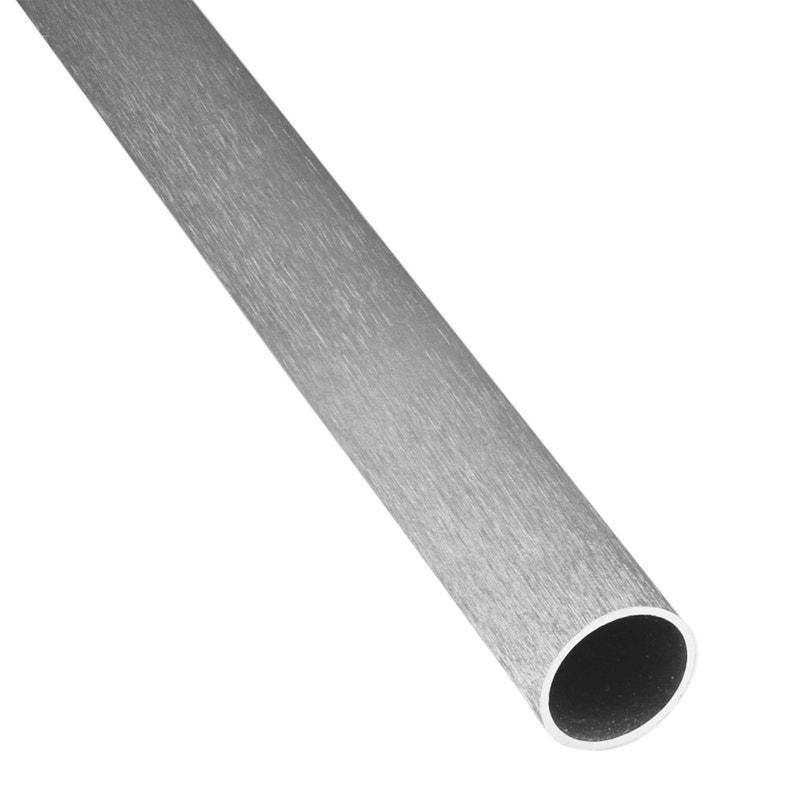 Tube Rond Aluminium Anodisé Argent L1 M X L1 Cm X H1 Cm X Diam10 Mm