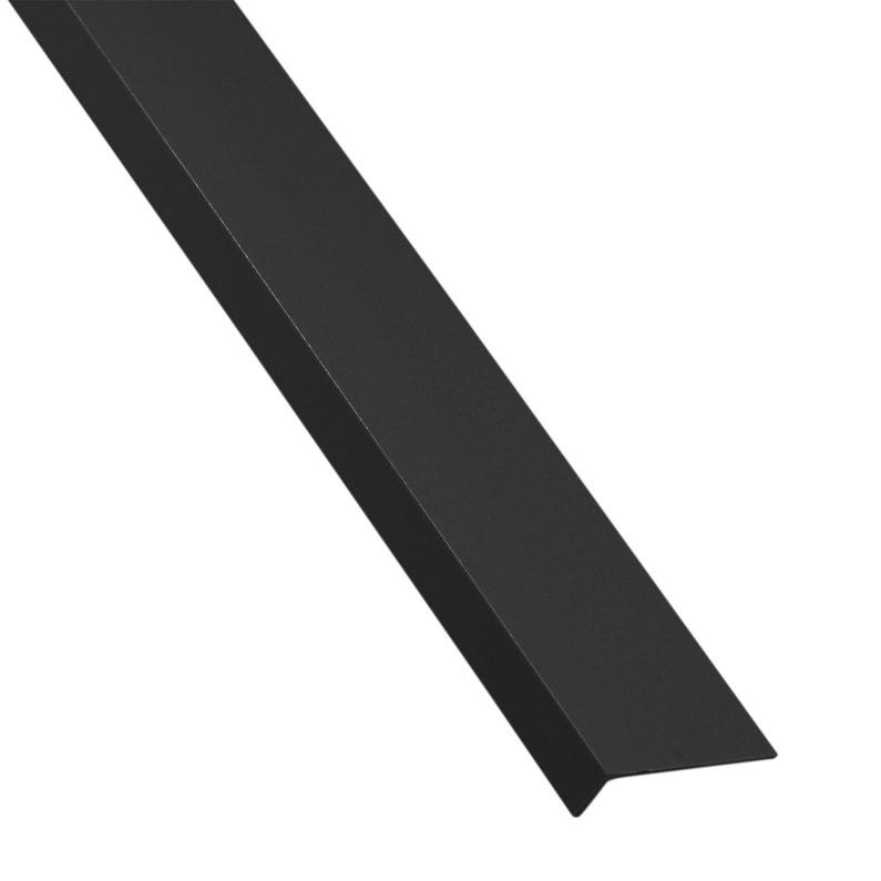 Cornière Inégale Pvc Mat Noir L1 M X L4 Cm X H1 Cm