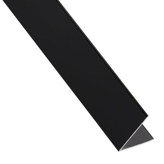 Cornière égale Aluminium Anodisé Noir L26 M X L11 Cm X H11 Cm