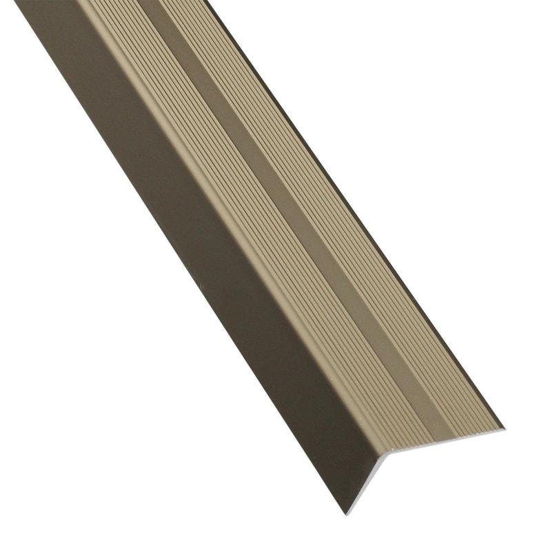 Nez De Marche Aluminium Mat Gris L 2 M X L 4 Cm X H 2 5 Cm