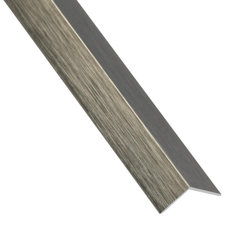 Cornière égale Aluminium Anodisé Gris L26 M X L3 Cm X H3 Cm