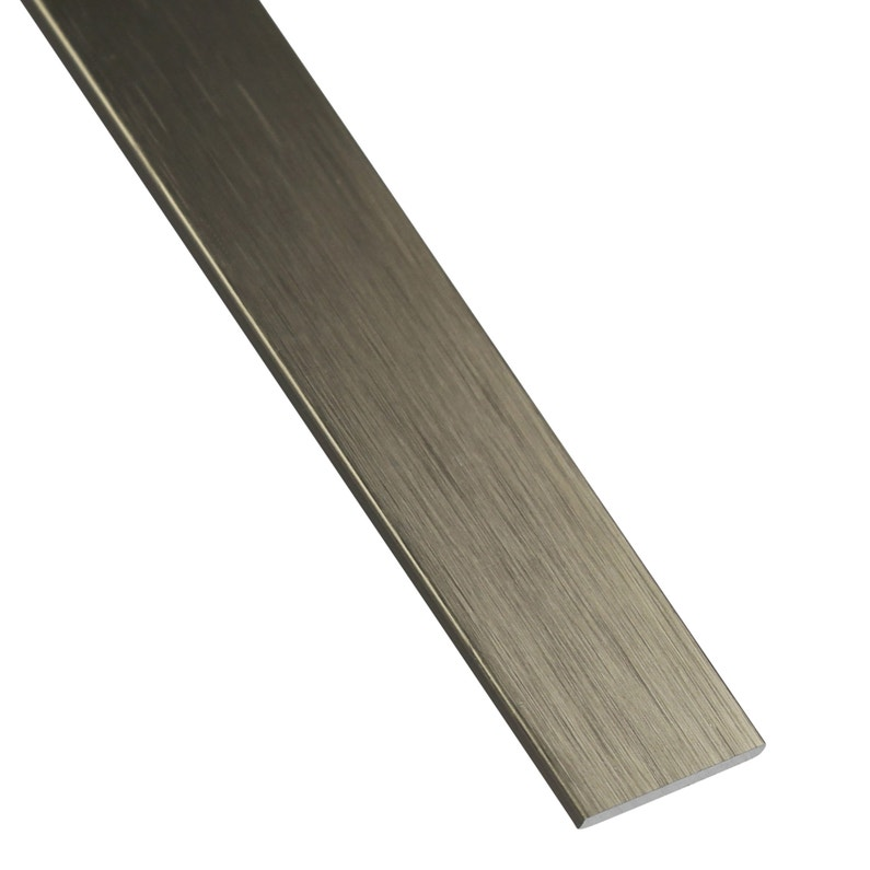 Plat Aluminium Anodisé Gris L1 M X L2 Cm X H02 Cm