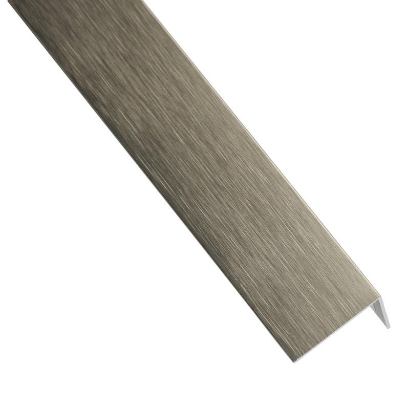 Cornière Inégale Aluminium Anodisé Gris L1 M X L235 Cm X H195 Cm