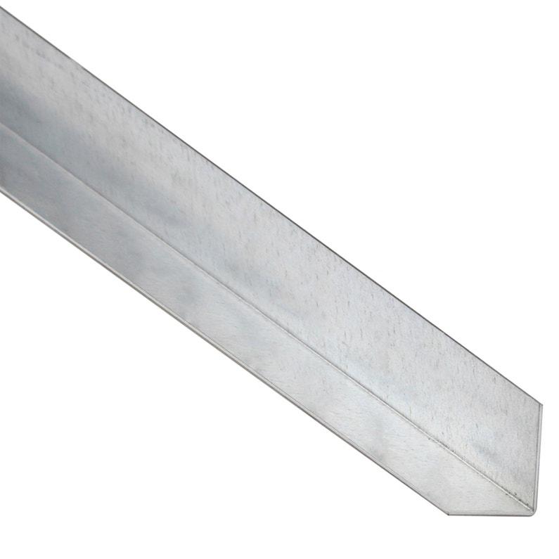 cornière égale acier galvanisé noir, l.2 m x l.1.6 cm x h.1.6 cm