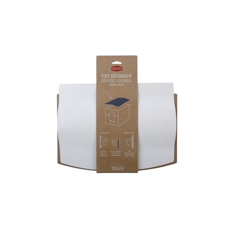 Toit Décoratif Pour Boîte Aux Lettres H425 X L32 X P5 Cm Renz Blanc