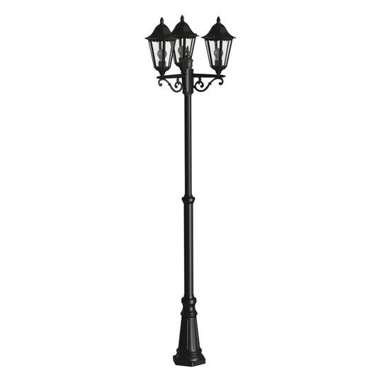 lampadaire ext rieur navedo e27 60 w noir argent eglo leroy merlin. Black Bedroom Furniture Sets. Home Design Ideas