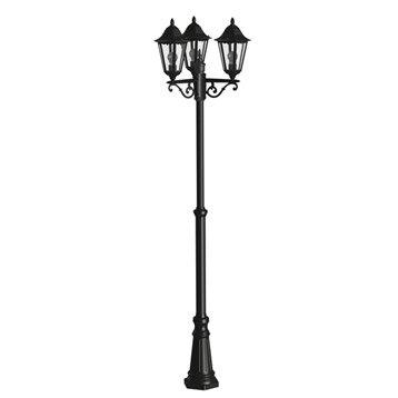 Lampadaire extérieur Navedo E27 60 W, noir argent EGLO