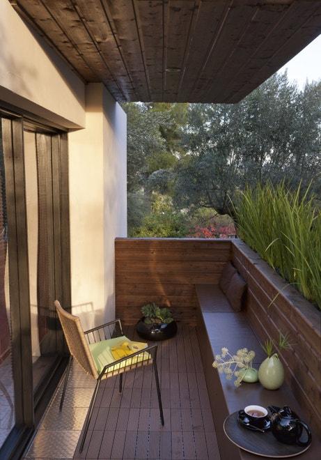 Un balcon tout en bois