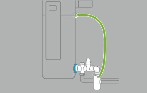 Raccorder le tuyau au chauffe-eau