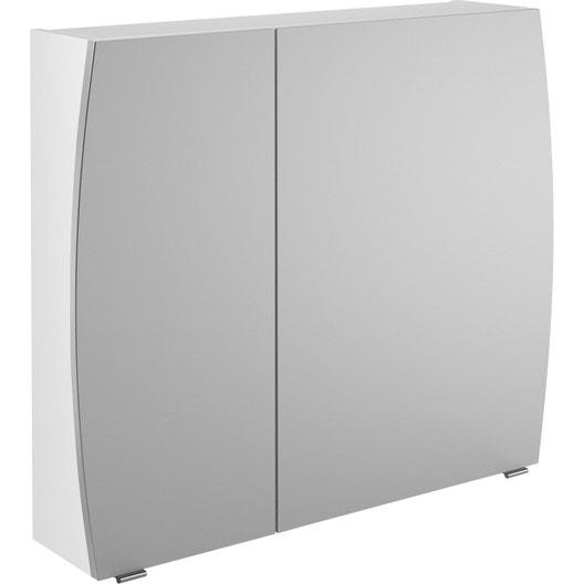 Armoire de toilette l 80 cm blanc image leroy merlin - Armoire toilette remix leroy merlin ...