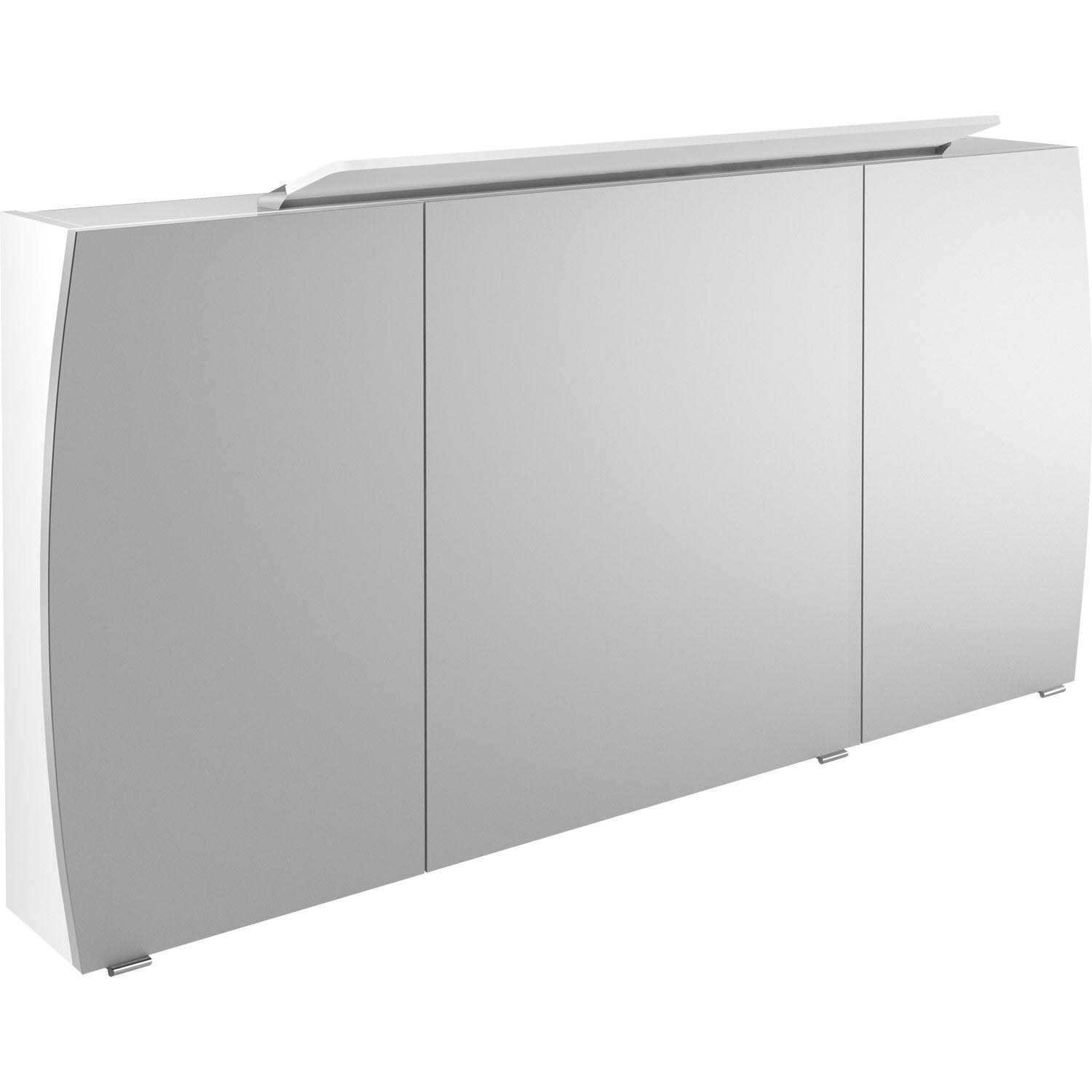 armoire de toilette lumineuse l 140 cm blanc image leroy merlin. Black Bedroom Furniture Sets. Home Design Ideas
