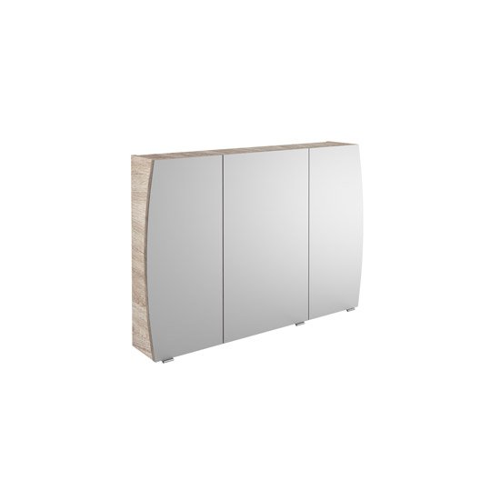 armoire de toilette l 100 cm imitation ch ne image leroy merlin. Black Bedroom Furniture Sets. Home Design Ideas