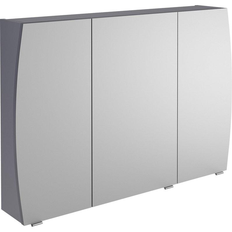Armoire de toilette l. 100 cm, gris Image