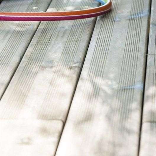 Planche bois pin Kuhmo, verte, L.240 x l.12 cm x Ep.21 mm