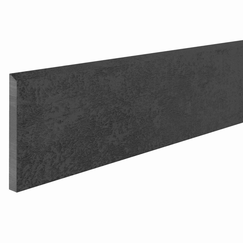 lot de 4 plinthes emotion noir l 7 5 x cm leroy merlin. Black Bedroom Furniture Sets. Home Design Ideas