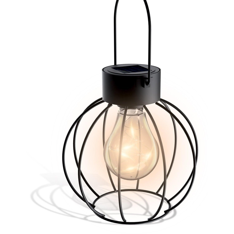 Lanterne solaire noir xanlite leroy merlin - Lampe solaire jardin leroy merlin ...