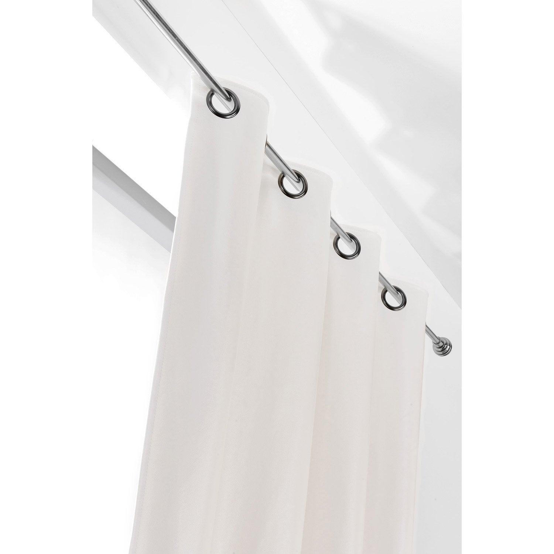 Rideau tamisant, Rideau simili cuir john, blanc, l.135 x H.260 cm ...