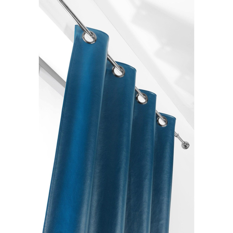 Rideau tamisant, Rideau simili cuir john, bleu roi, l.135 x H.260 cm ...