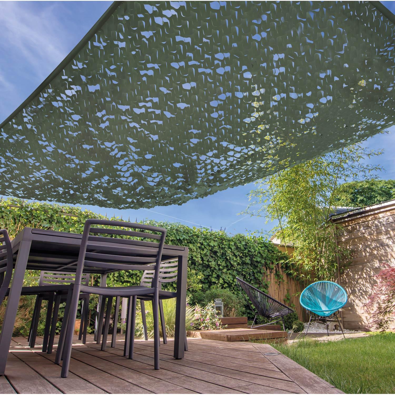 voile d 39 ombrage rectangulaire vert kaki x cm. Black Bedroom Furniture Sets. Home Design Ideas