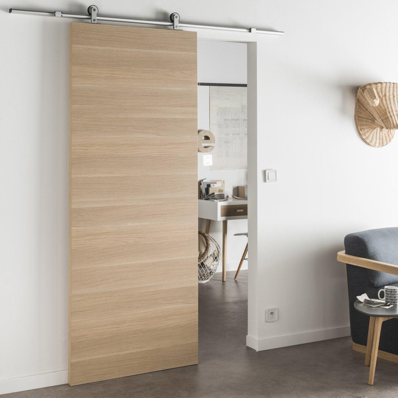 ensemble porte coulissante madrid 2 mdf 63cm rail bolero. Black Bedroom Furniture Sets. Home Design Ideas